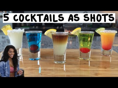 5 Popular Cocktails Made As Shots - Tipsy Bartender