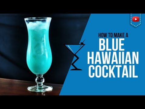 Blue Hawaiian Cocktail - How to make a Blue Hawaiian Cocktail Recipe by Drink Lab (Popular)