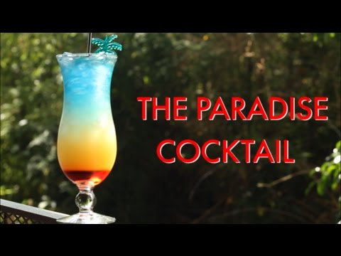 How To Make A Paradise Tropical Layered Cocktail | Drinks Made Easy