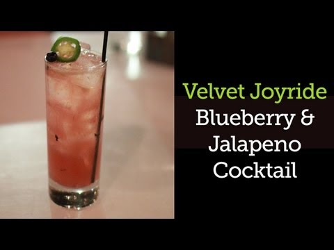 Vodka Cocktail - Jalapeno and Blueberry Cocktail Recipe