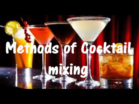 Methods of cocktail mixing