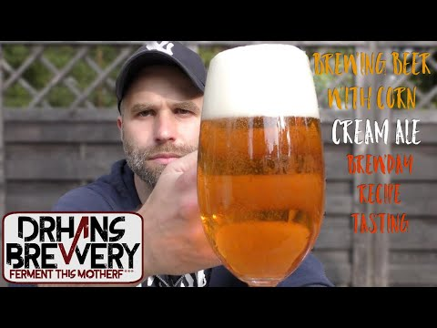 Brewing With Corn - Cream Ale brewday, all grain recipe & tasting! Grain to glass