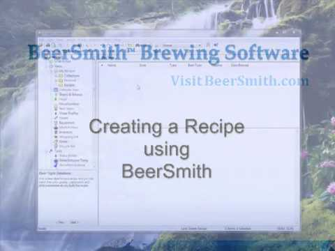 Creating a Beer Recipe with BeerSmith