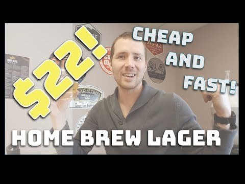 "How to Brew Beer Cheap and Fast! $22 Homebrew Light Lager in Under 2 Hours - ""Bud Light Clone"""
