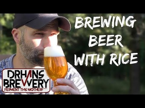 Rice beer, brewday, tasting and recipe!