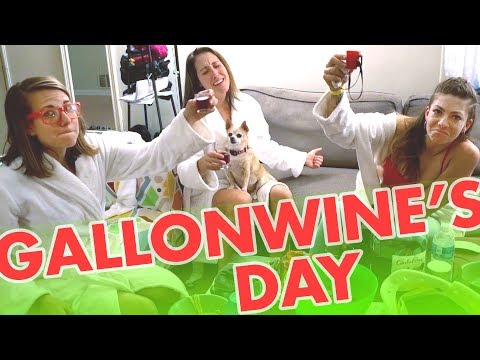 GALLON OF WINE DRINKING GAME for Valentine's Day
