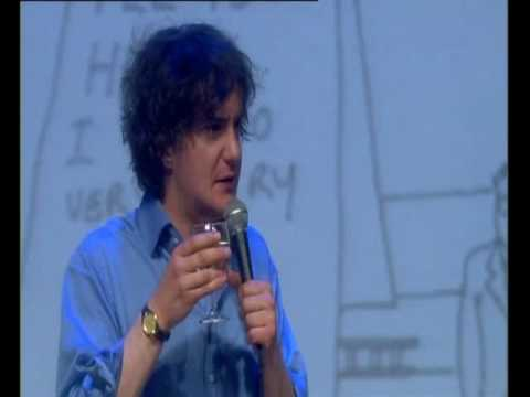 Dylan Moran - Monster - drinking wine
