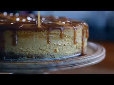 Pumpkin Cheesecake with Brandy Caramel Recipe | The Inspired Home