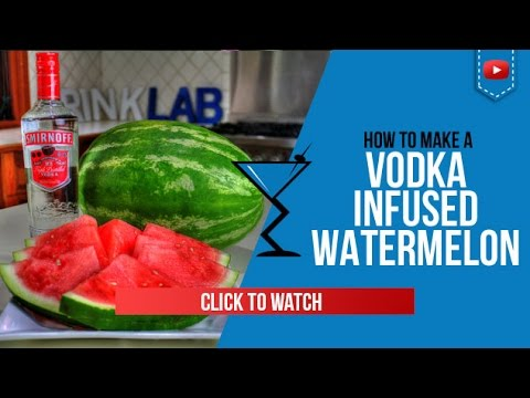 Vodka infused Watermelon - How to make  Vodka infused Watermelon Recipe by Drink Lab (Popular)
