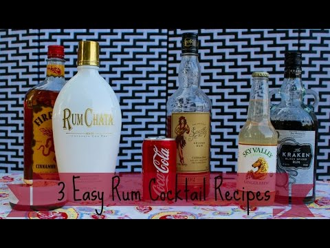 3 Easy Rum Cocktail Recipes | How To Make Rum Drinks