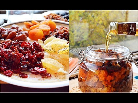 Christmas Cake  (Part-1): Dry  Fruits Soaking in Rum