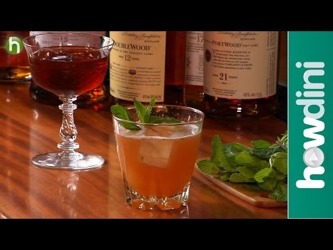 How to make scotch cocktails - Rob Roy and Balvenie Mash
