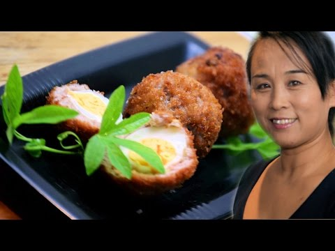 Quail Mini Scotch Eggs (Chinese Style Cooking Recipe)