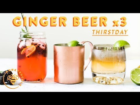 3 GINGER BEER COCKTAILS (& Non-Alcoholic) 💥 #THIRSTDAYS