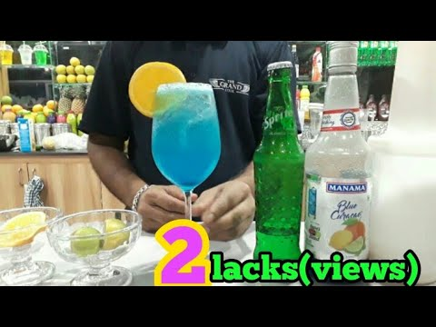 Blue Lagoon mocktail