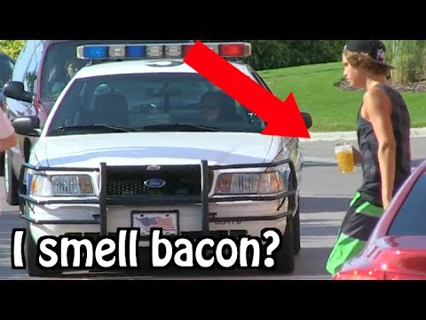 "Kids Drinking Beer PRANK ON COPS... ""I THINK I SMELL BACON"" ft. FaZe Tfue 