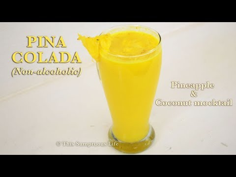 Virgin Pina Colada | Pineapple coconut mocktail | Summer drink recipe