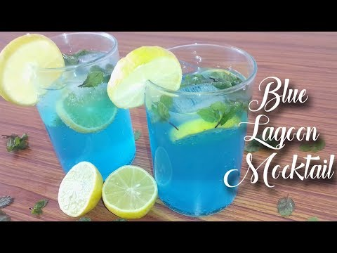 How to make blue lagoon mocktail | Non Alcoholic Mocktail Cocktail | Refreshing Coracao Mocktail