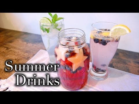 3 FESTIVE SUMMER DRINKS 🇺🇸 Non Alcoholic + Kid Friendly