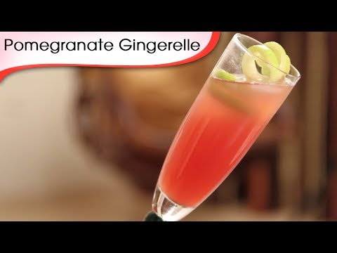 Pomegranate Gingerelle - Mocktail Recipe by Ruchi Bharani