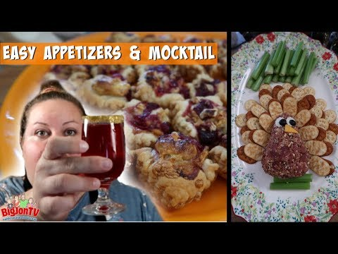 Two Easy Thanksgiving Appetizers and a Tasty Mocktail