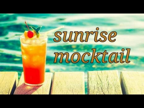 Sunrise / sunset non alcoholic mocktail | quick and easy mocktail | summer coolant mocktail