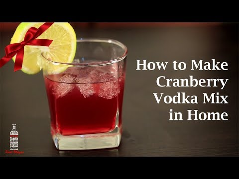 Cranberry Vodka Cocktail at Home | Vodka Recipes | Cranberry Mix