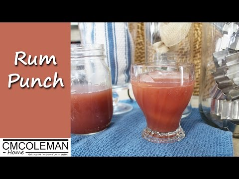 Easy Rum Punch Cocktail Recipe