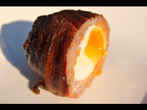 SCOTCH EGG Smoke on a cedar plank and wrapped in BACON - How To and recipe video