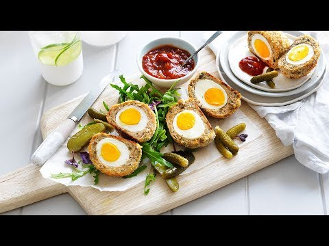 Baked Chicken Scotch Eggs Recipe