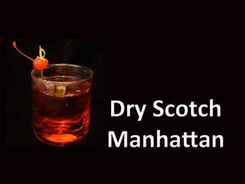 Dry Scotch Manhattan Cocktail Drink Recipe