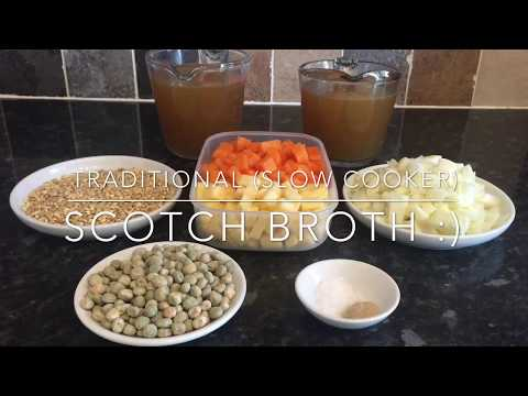 Traditional (slow cooker) Scotch Broth recipe and cook with me!