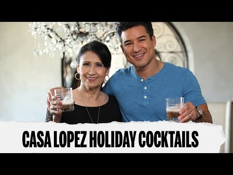 HOLIDAY COCKTAILS WITH MARIO AND HIS MOM