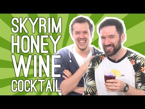 Skyrim Cocktail: We Mix a Velvet LeChance Skyrim Cocktail With Honey, Wine, Blackberry 🍷