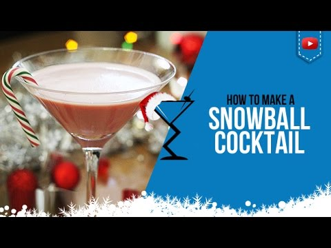 Christmas Cocktails - Christmas Snowball - How to make aChristmas Snowball Cocktail Recipe (Popular)