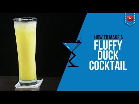 Fluffy Duck Cocktail - How to make a Fluffy Duck Cocktail Recipe by Drink Lab (Popular)