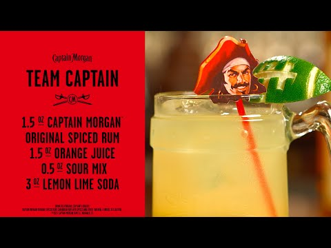 Team Captain Rum Drink | Captain Morgan Cocktail Recipe