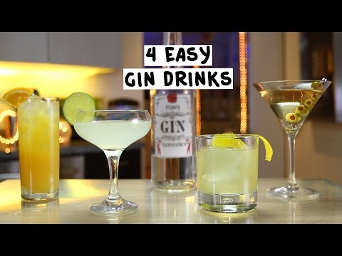 Four Easy Gin Drinks